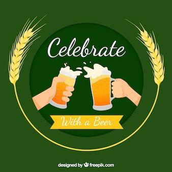 Design de cerveja verde