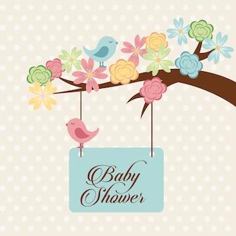 Design de chuveiro de bebê, gráfico de vetor ilustração eps10