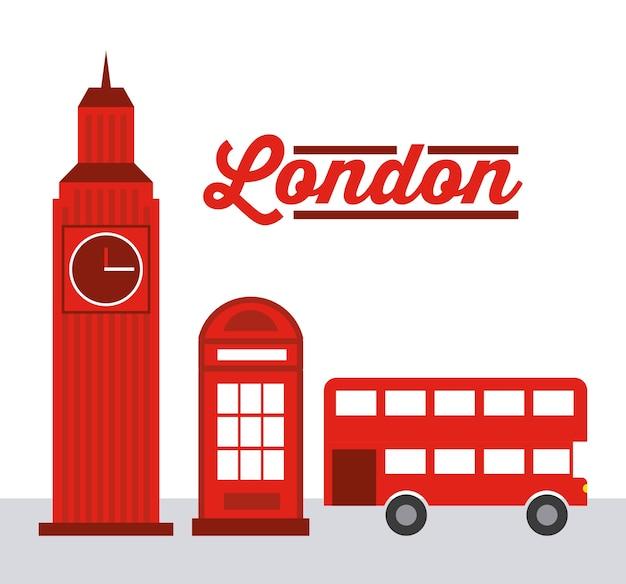 Design de cidade de londres, ilustração de vetor eps10 gráfico