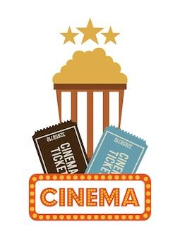 Design de cinema sobre ilustração vetorial de fundo branco