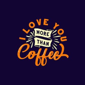 Design de citações amor / café