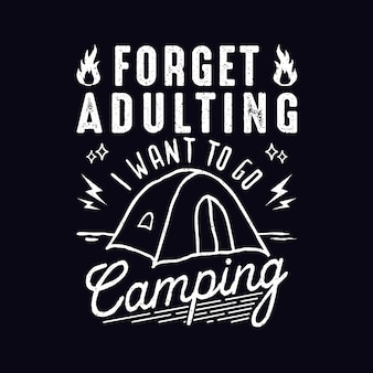 Design de citações camping