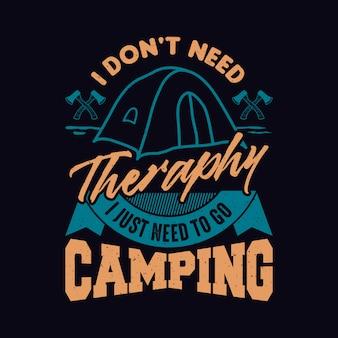 Design de citações de acampamento