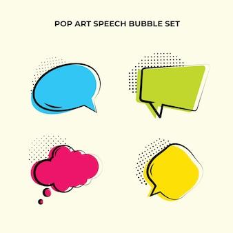 Design de coleção de balões de fala em quadrinhos
