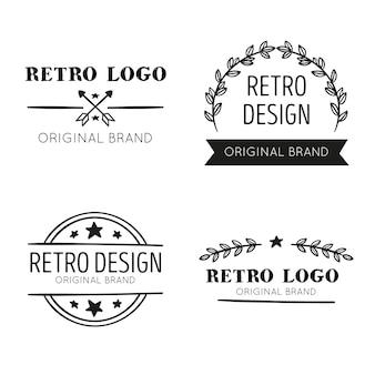 Design de coleção de logotipo retrô
