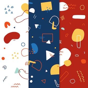 Design de coleção de padrão de memphis