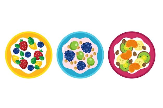 Design de coleção de taças e saladas