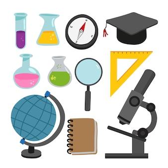 Design de coleção de vetor de ciência
