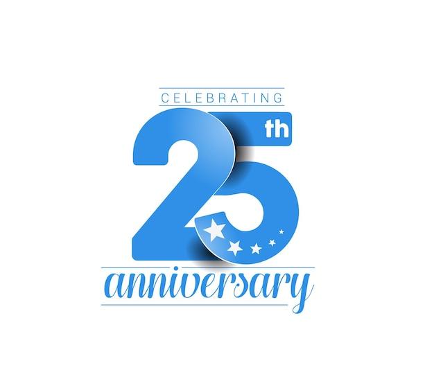 Design de comemoração de aniversário de 25 anos.