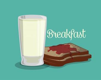 Design de comida de café da manhã