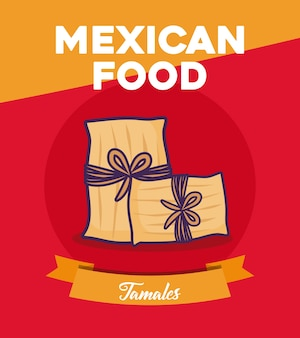 Design de comida mexicana com tamales
