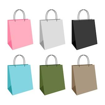 Design de compras de sacolas