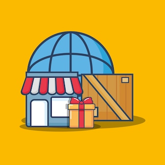 Design de compras e entrega