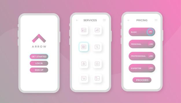 Design de conceito de aplicativo de marketing digital