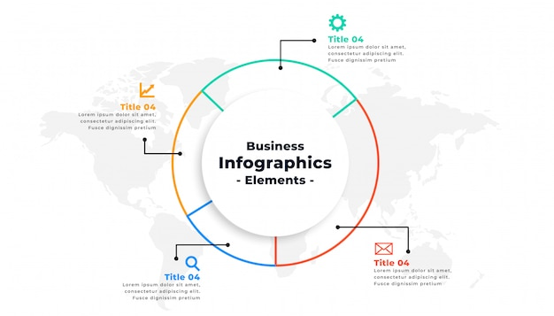 Design de conceito de apresentação de negócios infográfico linha fina
