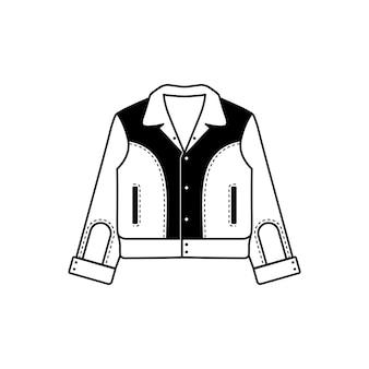 Design de conceito de jaqueta rockabilly minimalista e simples