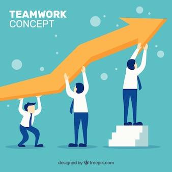 Design de conceito de trabalho em equipe
