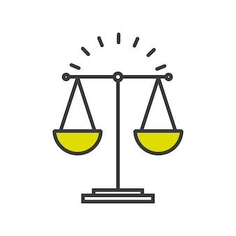Design de conceito justiça,