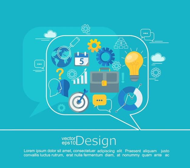 Design de conceitos de consultoria.