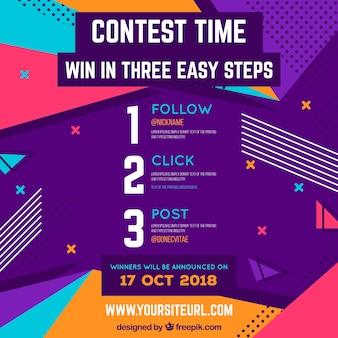 Design de concurso de mídia social