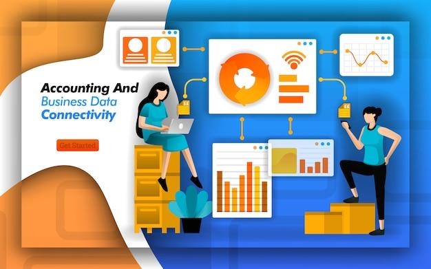 Design de conectividade contábil e de dados corporativos