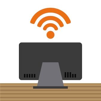 Design de conexão wi-fi, gráfico de vetor ilustração eps10