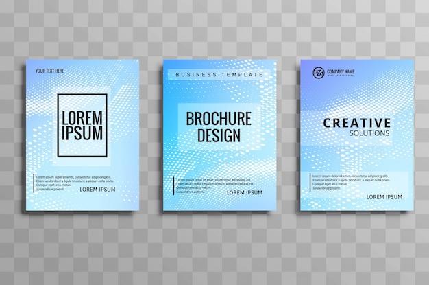 Design de conjunto de modelos de folhetos de negócios abstratos