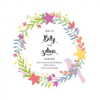 Design de convite com um quadro floral