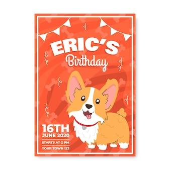 Design de convite de aniversário para crianças