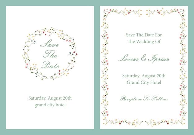 Design de convite de casamento