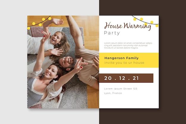Design de convite de festa com foto