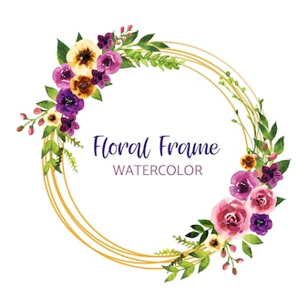 Design de convite em aquarela com folhas e flores, cartão, moldura, fronteira. cartaz, saudação aquarela art ilustração