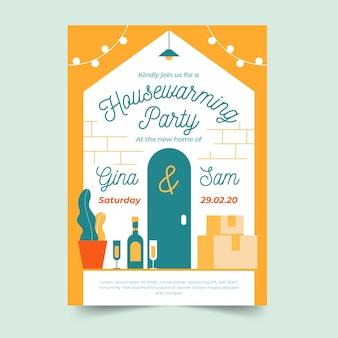 Design de convite para festa de inauguração