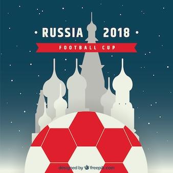 Design de copa de futebol de 2018 com kremlin