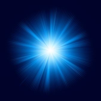 Design de cor azul com uma explosão. arquivo incluído