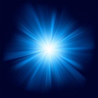 Design de cor azul com uma explosão.
