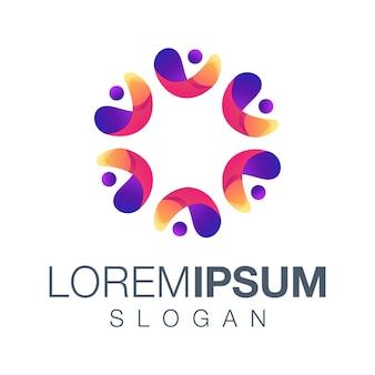 Design de cor de logotipo de pessoas