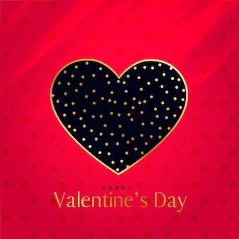 Design de coração premium em fundo vermelho