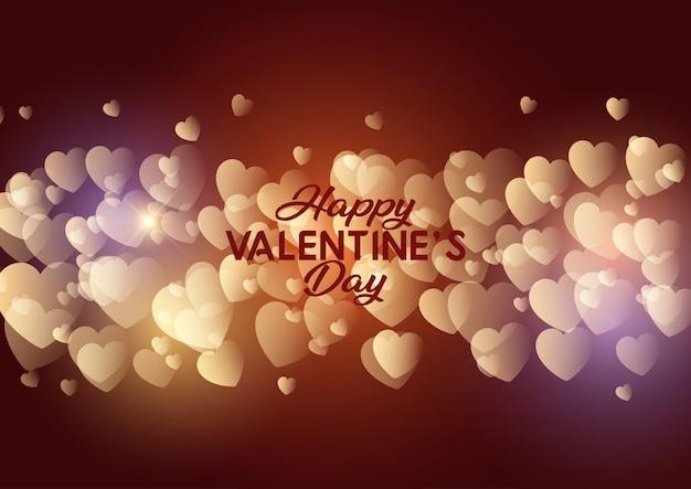 Design de corações para dia dos namorados