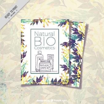 Design de cosméticos folheto
