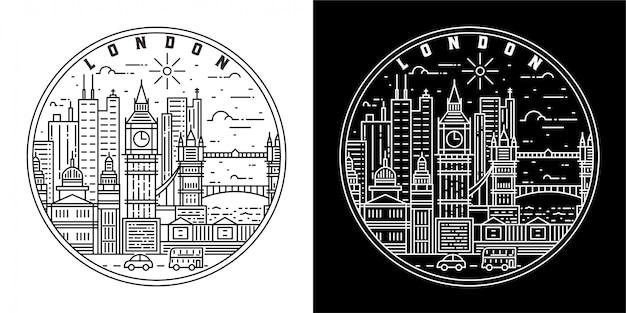 Design de crachá da cidade de londres