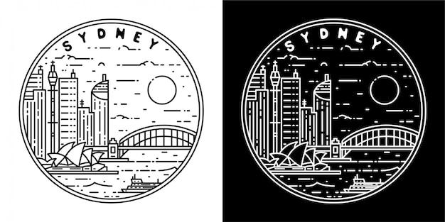 Design de crachá da cidade de sydney