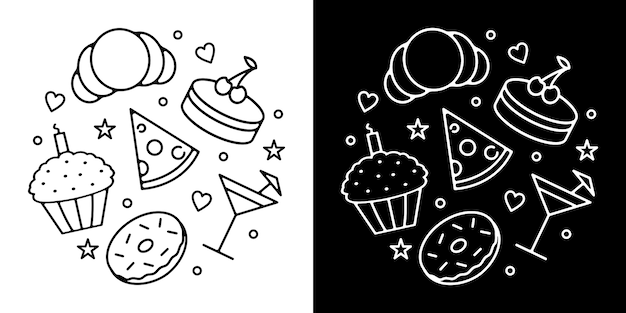 Design de crachá de comida