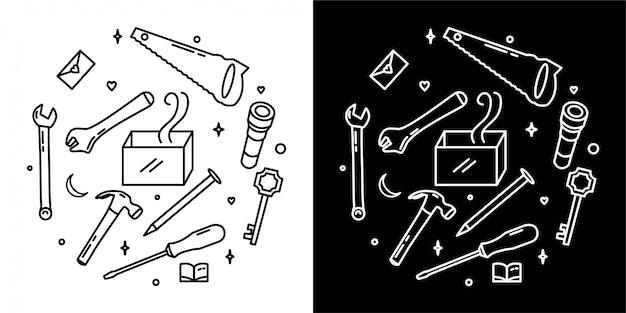 Design de crachá de ferramentas