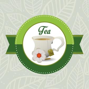 Design de crachá de hora do chá