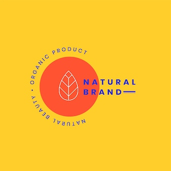 Design de crachá de logotipo de marca natural