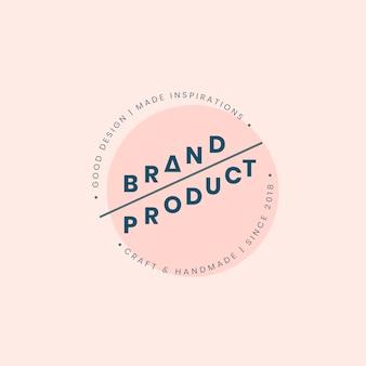 Design de crachá de logotipo de produto de marca