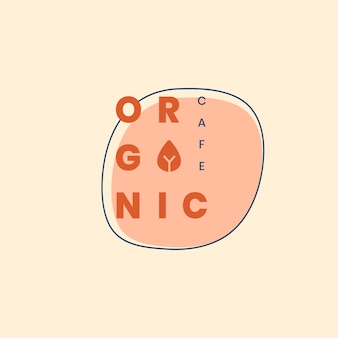 Design de crachá de logotipo