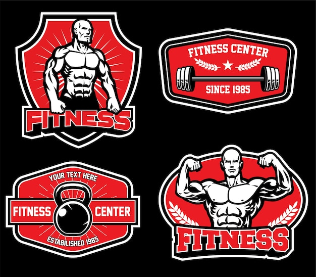 Design de crachá para fitness de academia