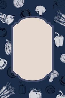 Design de crachá vegetal em branco